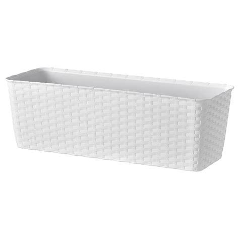 BLÅHALLON Macetero, blanco, exterior   IKEA