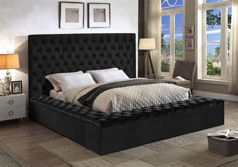 Bliss Black King Size Bed bliss Meridian Furniture King ...