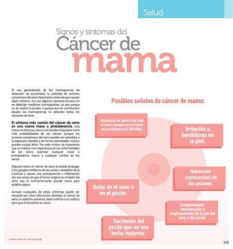 Blog de Caja Popular Oblatos: Signos y síntomas del cáncer ...