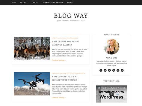 Blog Way   Free professional Blog WordPress Theme 2018
