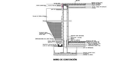 Bloques AutoCAD Gratis de Detalle de muro de contención