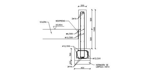 Bloques AutoCAD Gratis de detalle muro de contención
