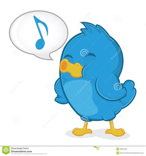 Blue Bird Singing stock vector. Illustration of background ...