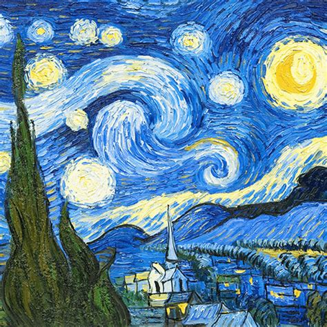 Blue Starry Night by Vincent Van Gogh   ArtWorker