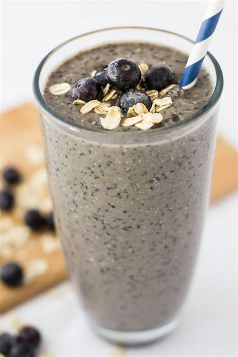 Blueberry Banana Oatmeal Smoothie for a Nutritious ...