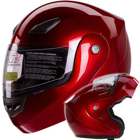 BLUETOOTH READY METALLIC WINE RED MODULAR MOTORCYCLE ...