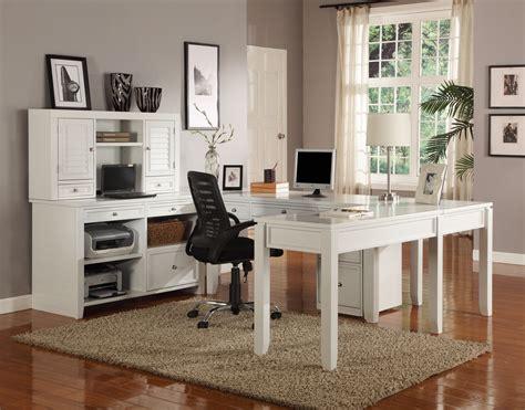 Boca Transitional White Modular U Shaped Office Furniture ...
