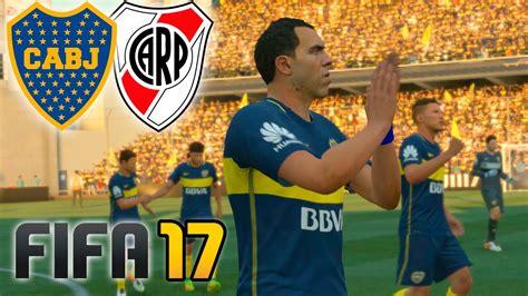 Boca vs River | FIFA 17 PARTIDO COMPLETO   La Bombonera ...