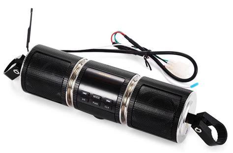 Bocinas Para Moto Con Bluetooth Fm Usb Radio Pantalla Mp3 ...