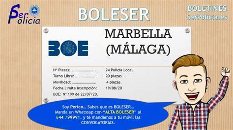 BOE 20+4 PLAZAS POLICIA LOCAL MARBELLA  MÁLAGA ...