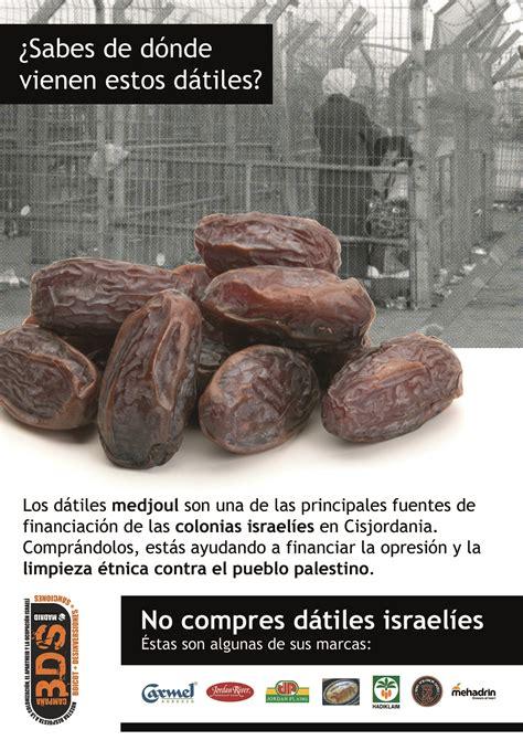 Boicot a los dátiles israelíes