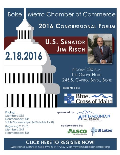 Boise Metro Chamber of Commerce 2016 Congressional Forum ...