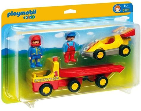 bol.com   PLAYMOBIL 1.2.3 Raceauto met Transportwagen ...