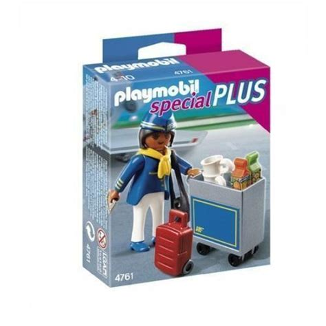 bol.com | Playmobil Stewardess met Trolley   4761,PLAYMOBIL