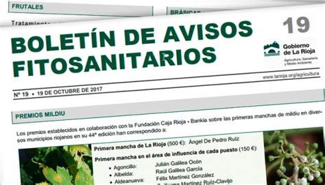Boletín de Avisos Fitosanitarios de La Rioja 19 | Martínez ...