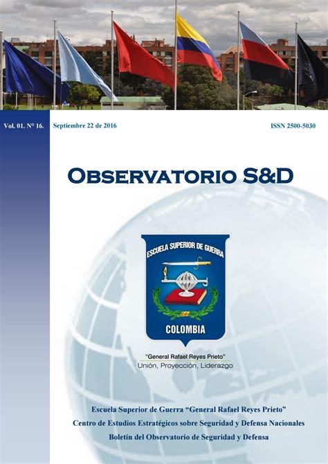 Boletín del Observatorio de Seguridad y Defensa Vol. 01. N ...