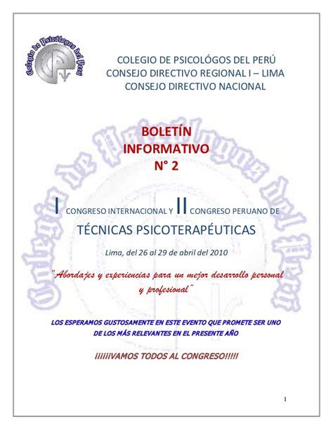 Boletin informativo 2 programa oficial del congreso