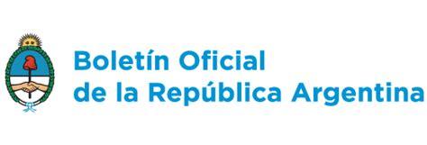 Boletin Oficial de la Republica Argentina | Colegio de ...