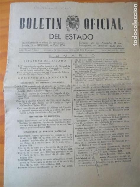 boletin oficial del estado de 1938   ministerio   Comprar ...
