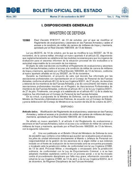 Boletín Oficial Del Estado: Ministerio De Defensa