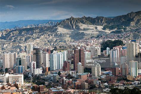 Bolivia La Paz The Capital City High Res Stock Photo ...