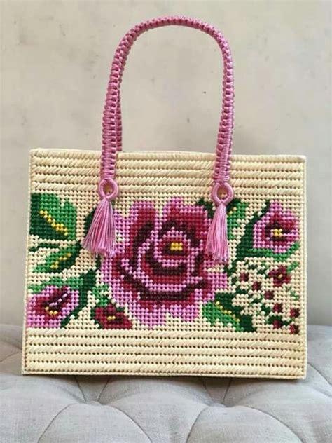 Bolsa canvas Flor mexicana | Canvas / Malla de plástico ...