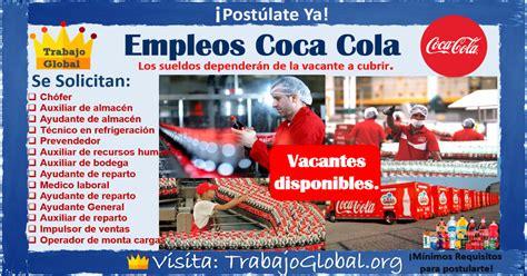 Bolsa de trabajo Coca Cola   TrabajoGlobal.org