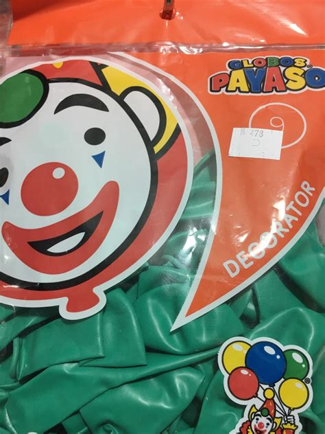 Bolsa Globo Latex Verde Jade 50 Pzs Payaso Fiesta Evento ...