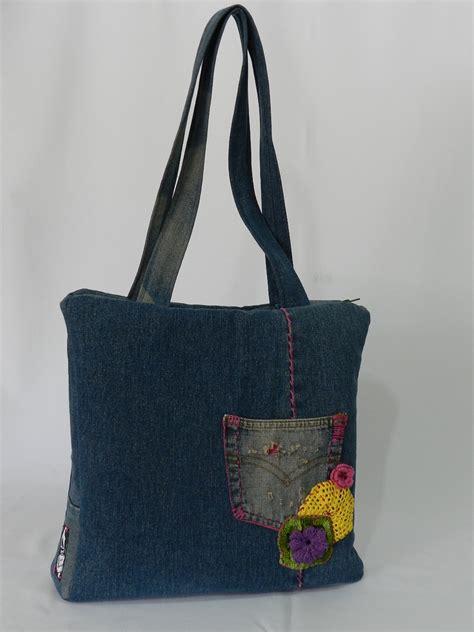 Bolsa Jeans Reciclada no Elo7 | Santa Bonita  38314C