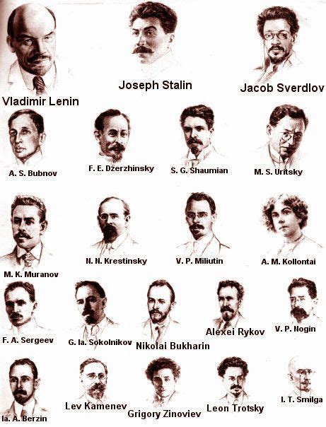Bolshevik Politburo, fall of 1917 the leaders of the ...