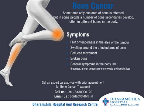 Bone Cancer Symptoms Sometimes only one area of bone is ...
