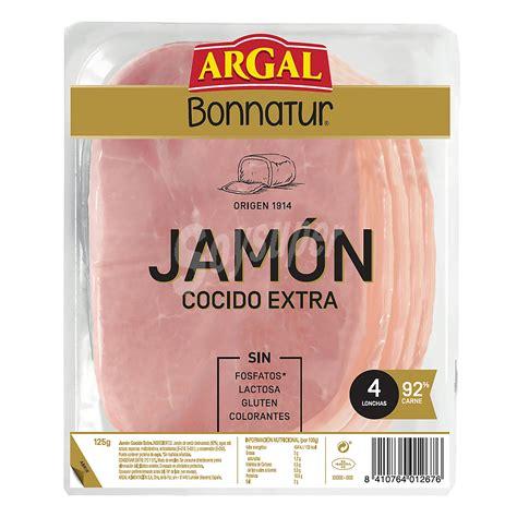 Bonnatur Argal Jamón cocido extra Bandeja 125 g