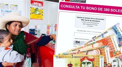 Bono 380 soles: horario de atención bancos para cobrar ...