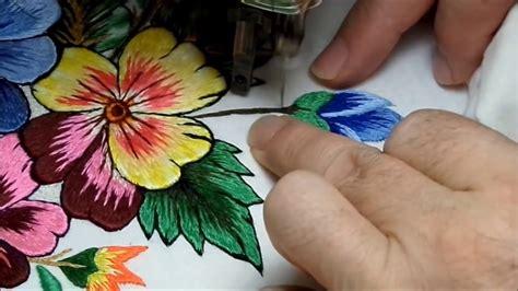 bordados a máquina antigua embroidery ricamo   YouTube
