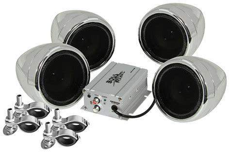 Boss Audio MC470B Motorcycle ATV Bluetooth Amp & Speakers ...