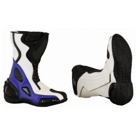 Botas de moto racing baratas Goyamoto GM 365 color azul