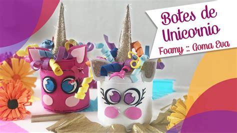 Botes de Unicornios con Goma Eva Foamy :: Chuladas ...
