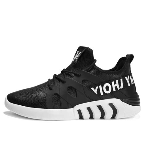 Brand Men Running Shoes Leather Sports Sneakers Men s ...