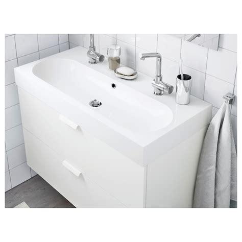 BRÅVIKEN Lavabo a 1 vasca, bianco, 100x48x10 cm   IKEA IT