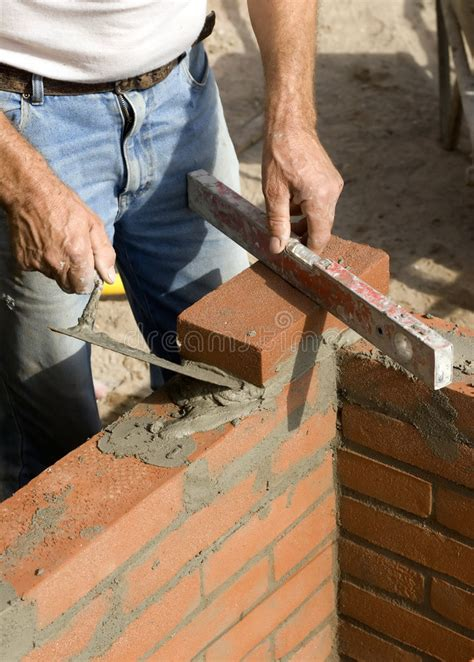Brick layer stock photo. Image of lines, angle, stacking ...