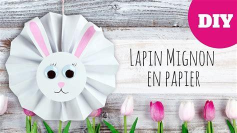 Bricolage de Pâques   Lapin mignon en papier  FACILE ...
