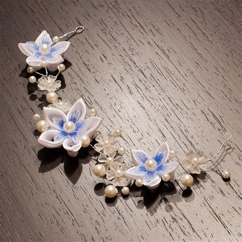 Bridal Hairpice Flower Crown Flower Headband Wedding ...