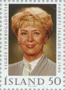 Briefmarke: Vigdis Finnbogadottir  Island   Republik  Mi ...