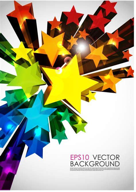 Bright 3d graphics vector Free Vector / 4Vector