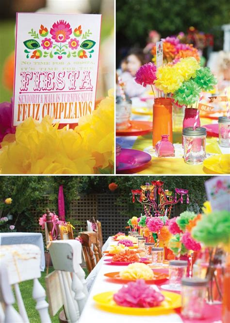 Bright and Cheerful Mexican Fiesta Birthday Party ...