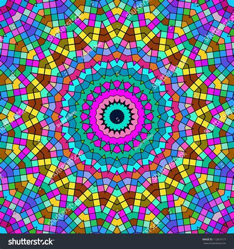 Bright Colorful Kaleidoscope Pattern. Stock Photo ...