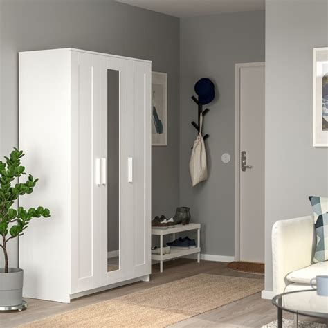BRIMNES Armario con 3 puertas, blanco, 117x190 cm   IKEA