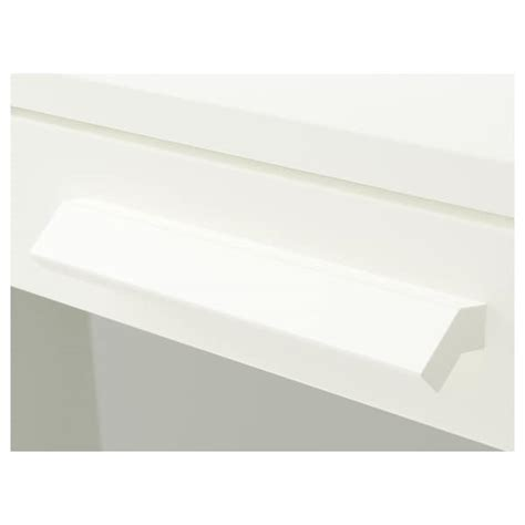BRIMNES Chest of 3 drawers   white, frosted glass   IKEA