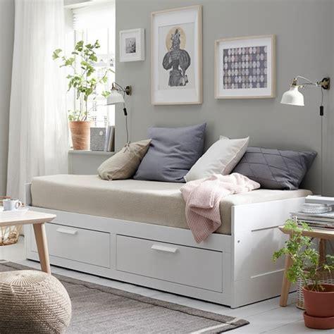 BRIMNES Sengestel, sovesofa, med 2 skuffer   IKEA