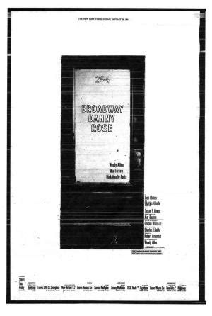 Broadway Danny Rose  1984    FilmAffinity